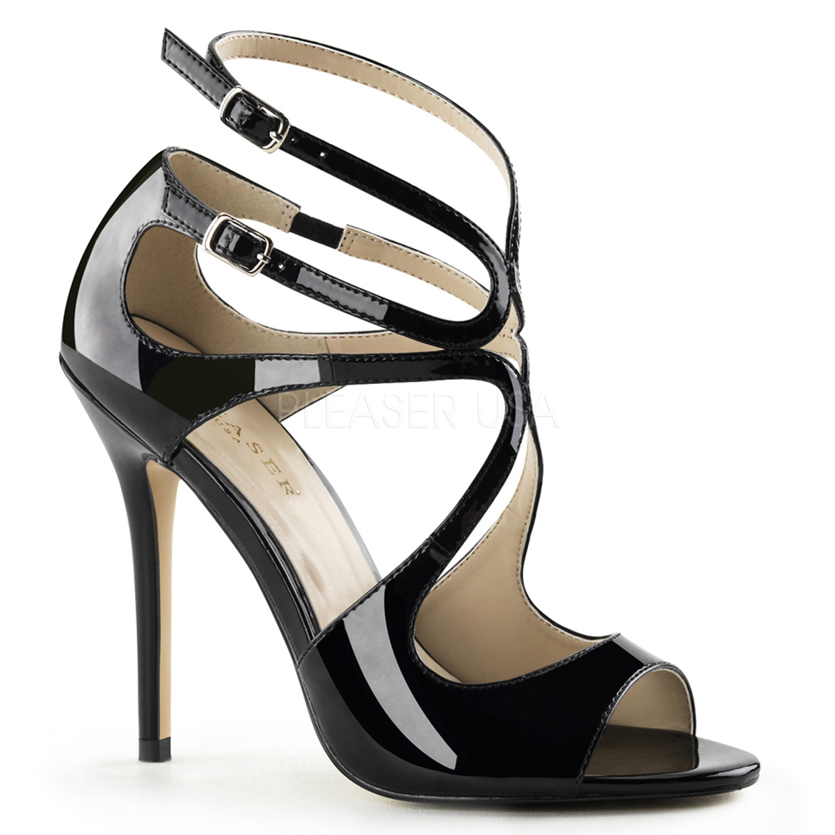 5 Inch Stiletto Heel Strappy Sandal
