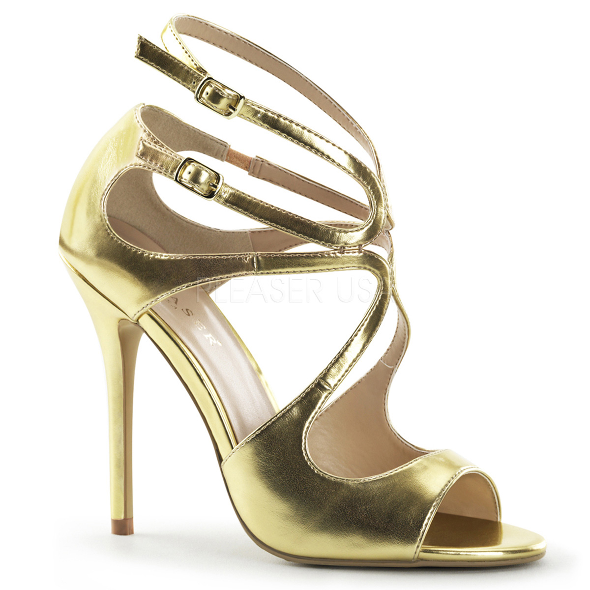 5 Inch Stiletto Heel Strappy Sandal - Click Image to Close