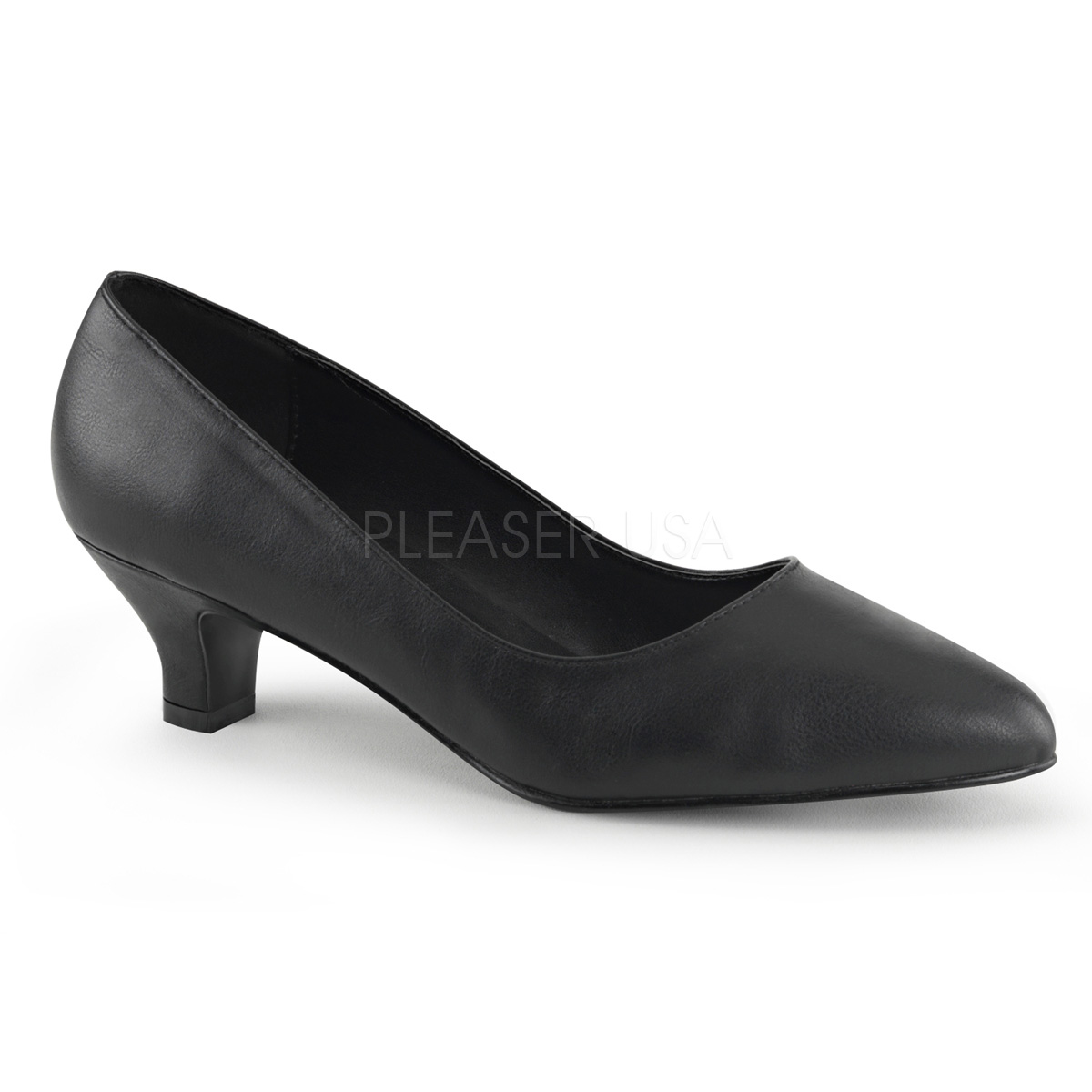 2 Inch Block Heel Classic Pump - Click Image to Close