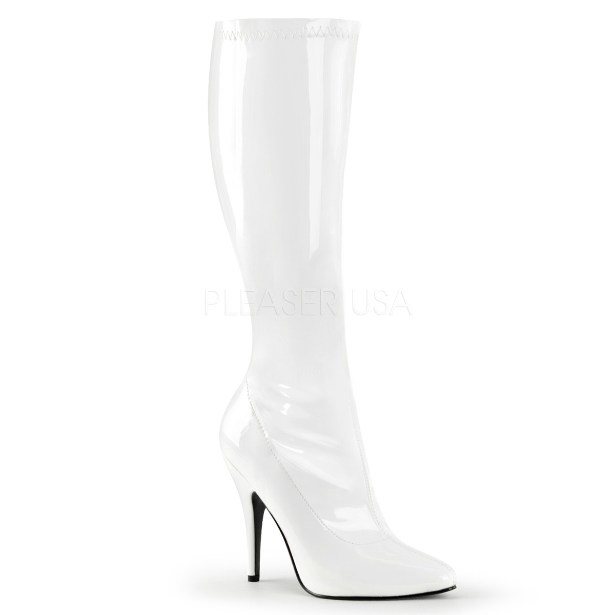 5 Inch Stiletto Heel Stretch Knee Boots