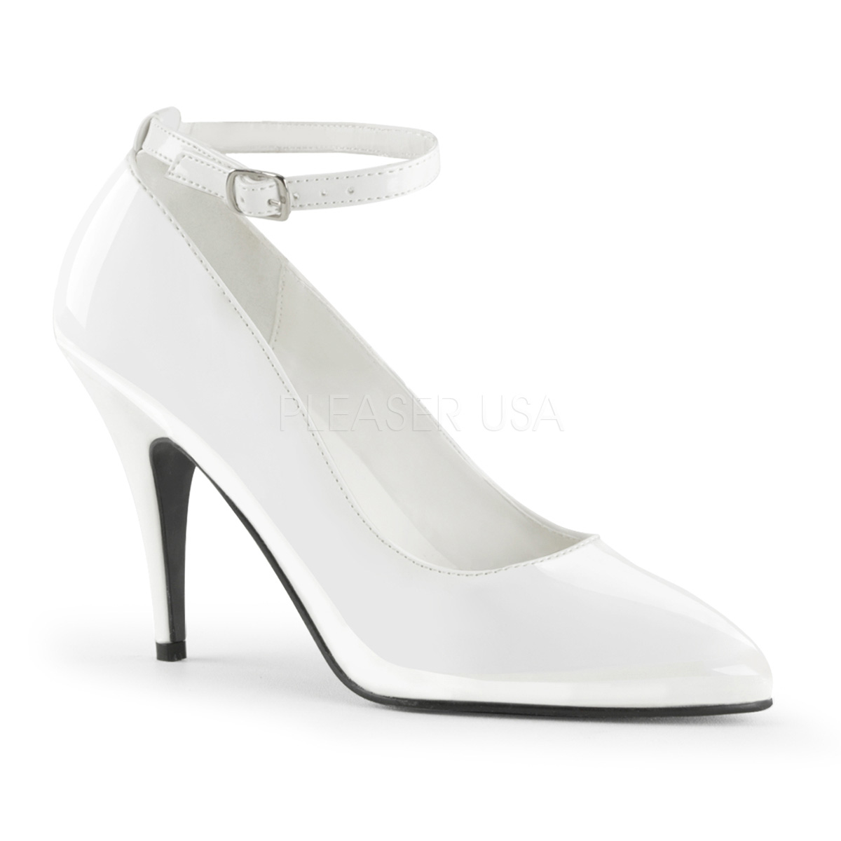 4 Inch Stiletto Heel Pump w/ Ankle Strap